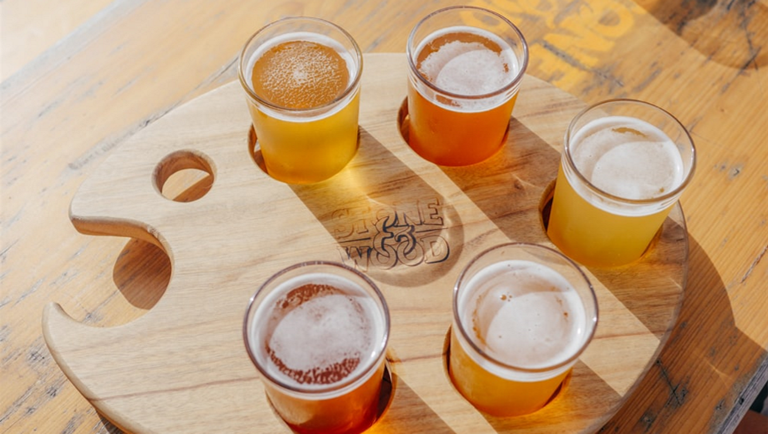Image of a flight of beer