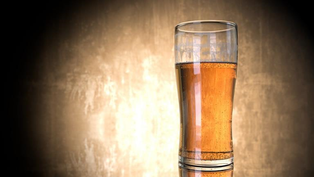 Image of highly carbonated beer in a pilsner glass