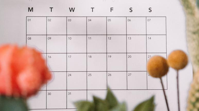 Image of a calendar to symbolize aging brisket for 30-40 days