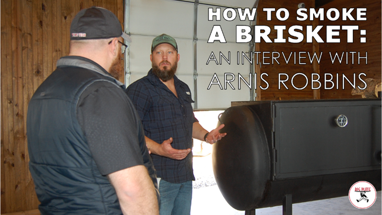 Image of Arnis Robbins with a Reverse Flow Smoker