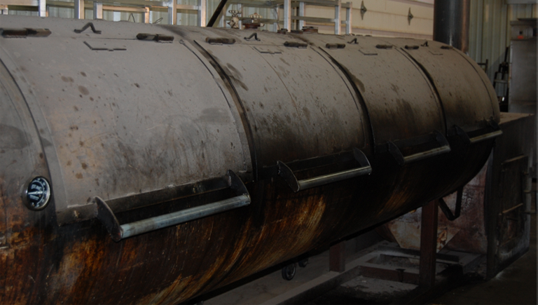 Image of reverse flow smoker in Evie Mae's Pit Room